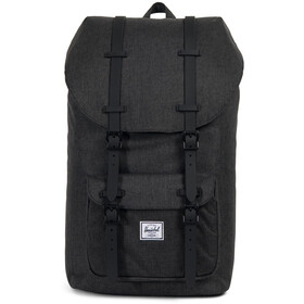 Herschel Little America Rugzak, black crosshatch/black